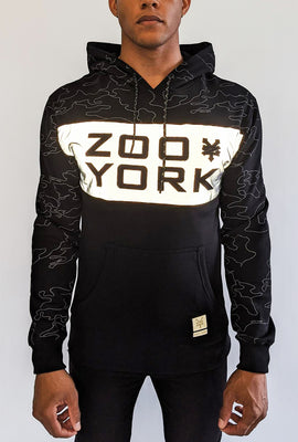 Zoo York Mens Reflective Colour Block Hoodie