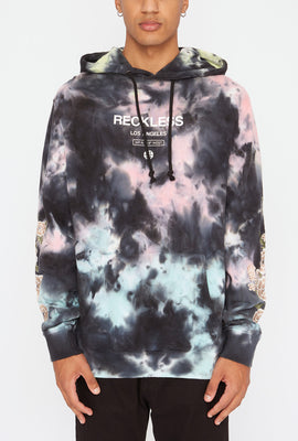 Haut à Capuchon World Tour Tie-Dye Young & Reckless Homme