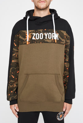 Zoo York Mens Splatter Camo Colour Block Hoodie