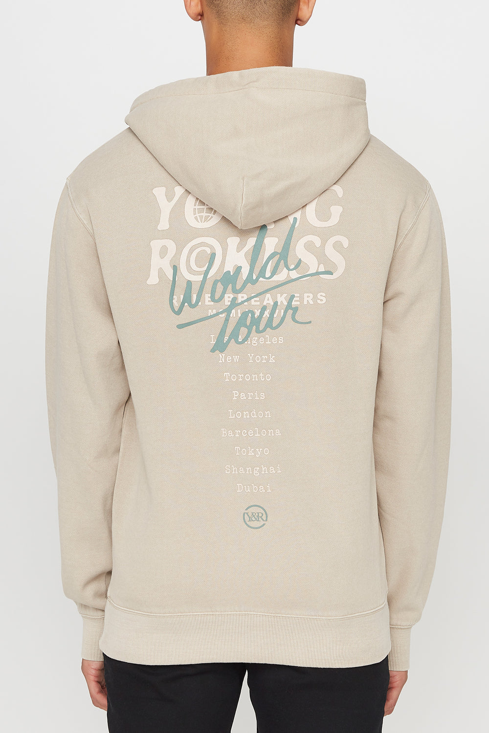 Haut à Capuchon World Tour Young & Reckless Homme Naturel