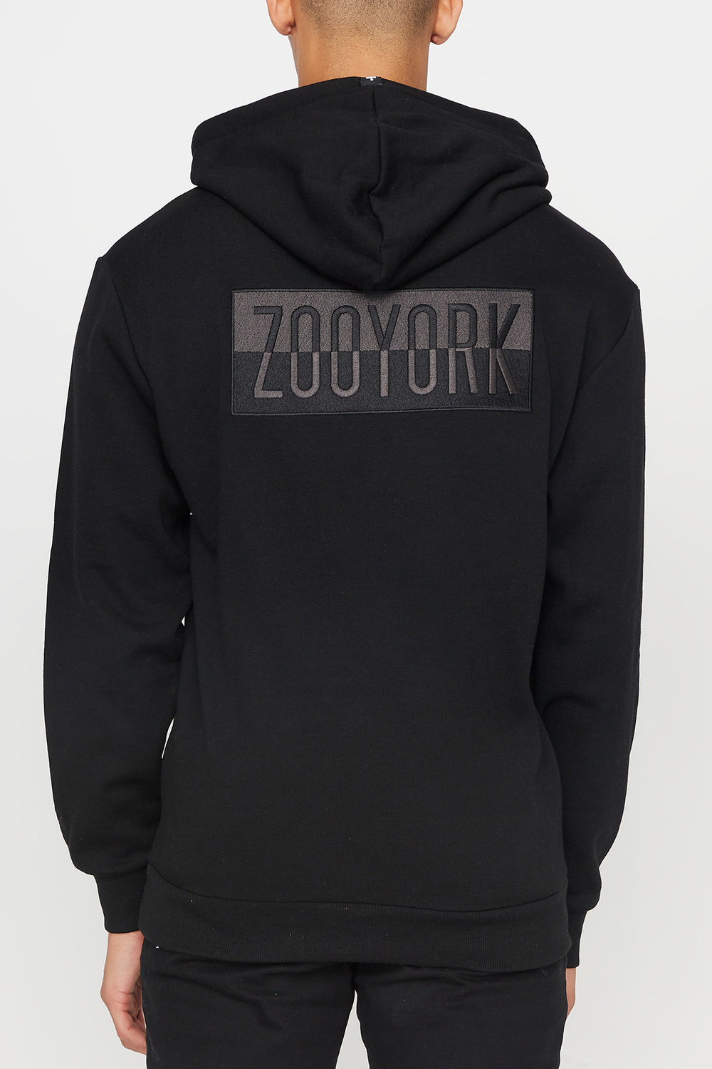 Zoo York Mens Two Tone Box Logo Hoodie Black