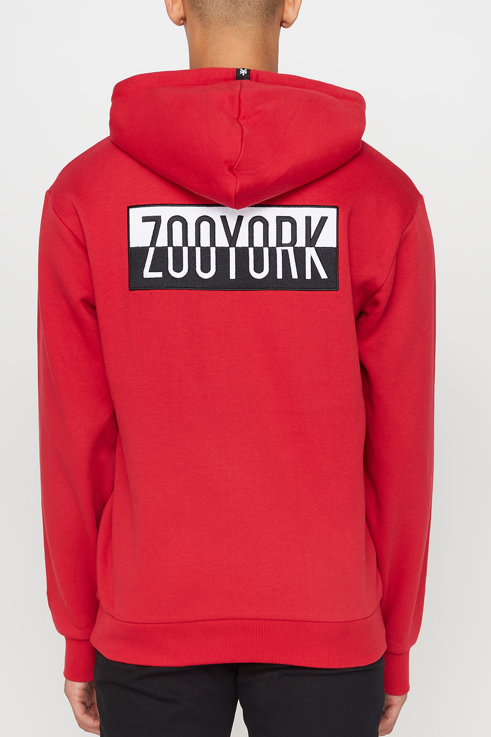 Zoo York Mens Two Tone Box Logo Hoodie Red