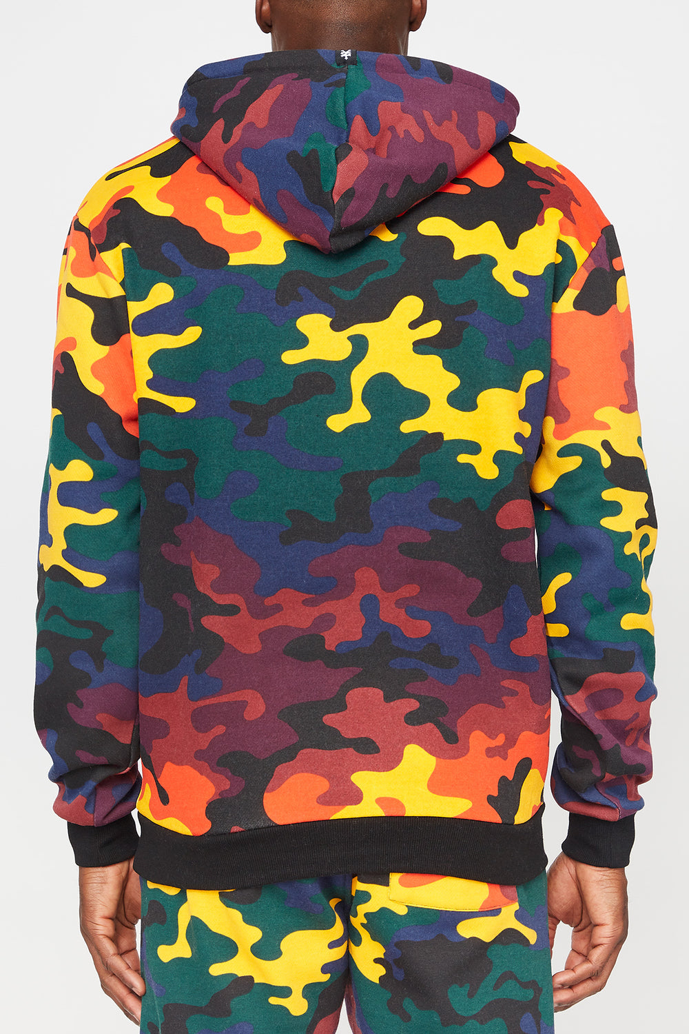 Zoo York Mens Rainbow Camo Hoodie Multi