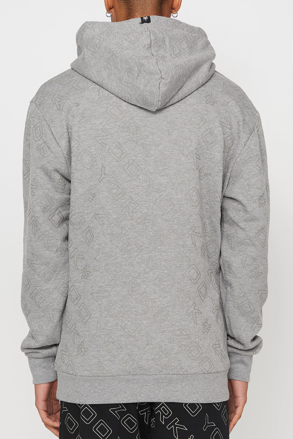 Zoo York Mens Reflective Hoodie Heather Grey