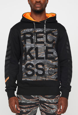 Young & Reckless Mens Tiger Camo Logo Hoodie