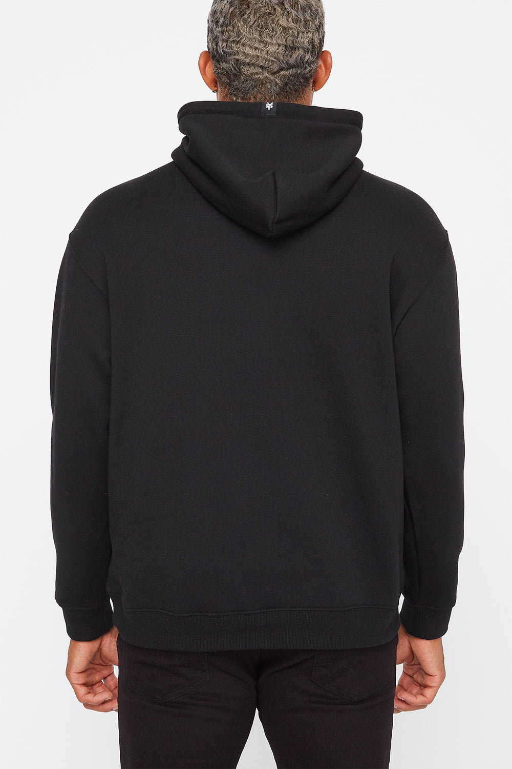 Zoo York Mens Behind Pocket Logo Hoodie Black
