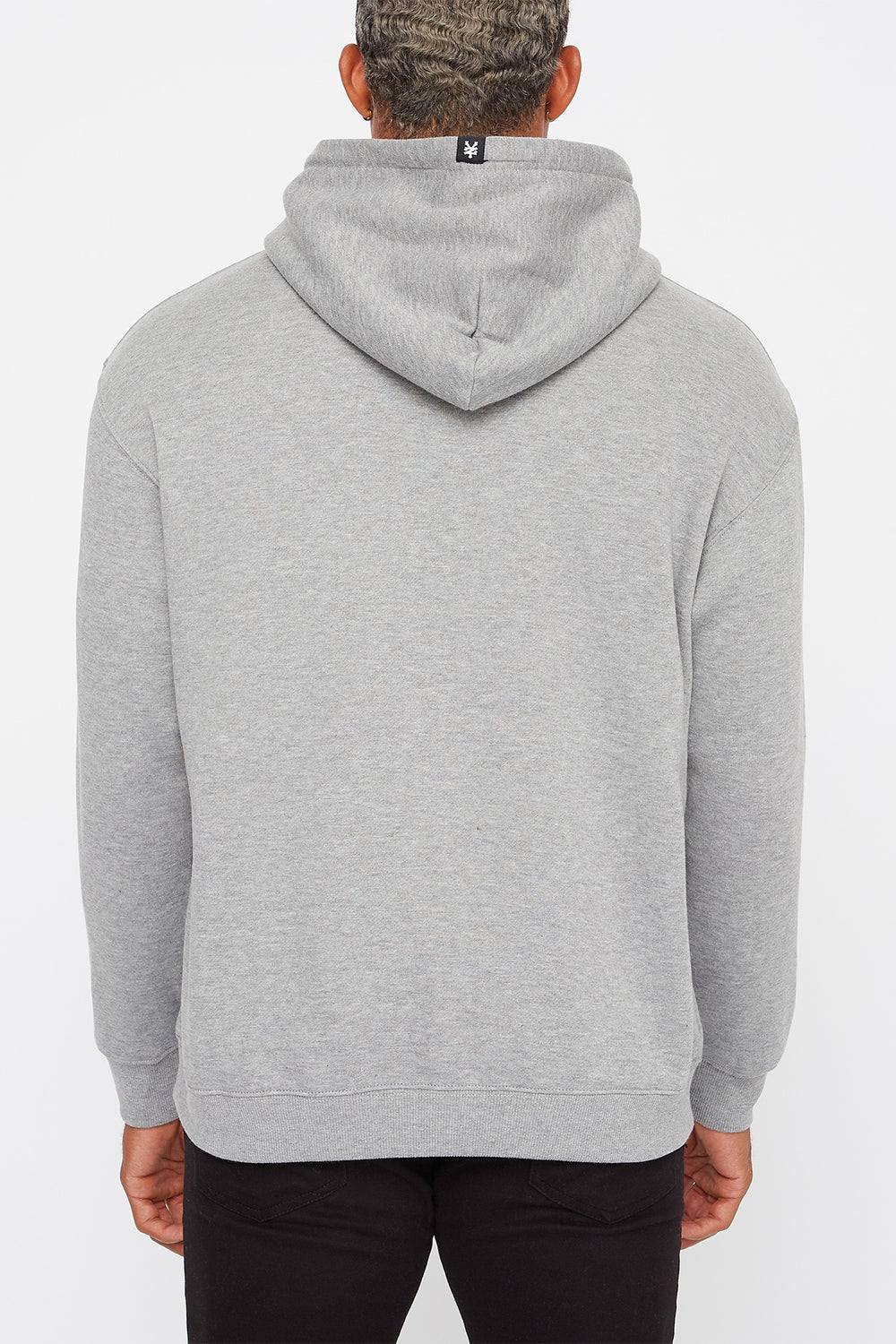 Zoo York Mens Behind Pocket Logo Hoodie Heather Grey