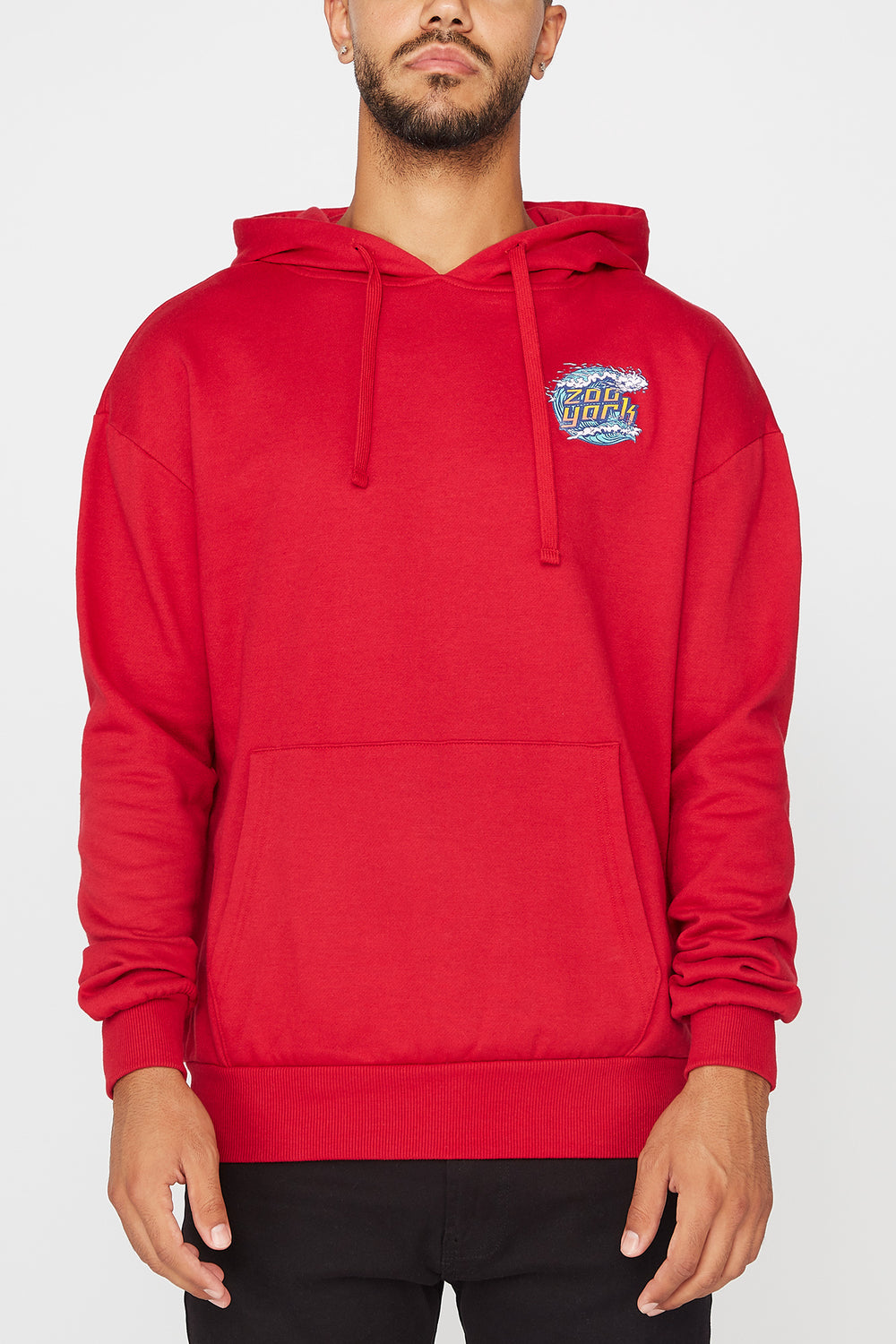 Zoo York Mens Wave Logo Hoodie Red