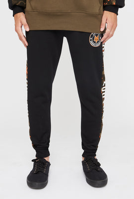 Zoo York Mens Splatter Camo Side Tape Jogger
