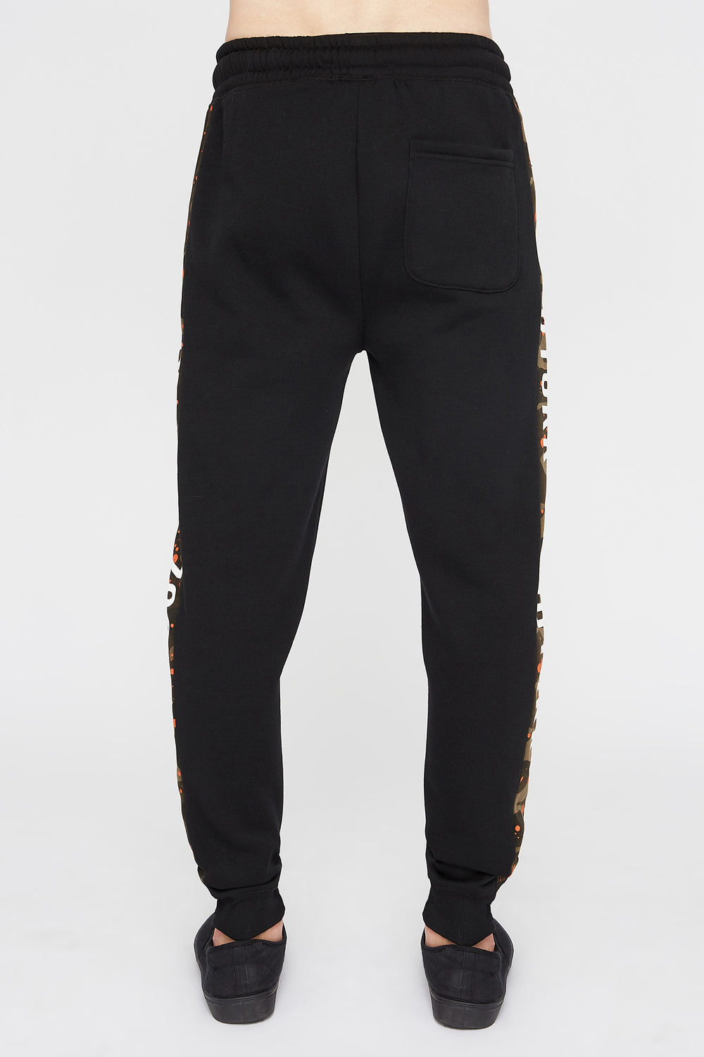 Zoo York Mens Splatter Camo Side Tape Jogger Green