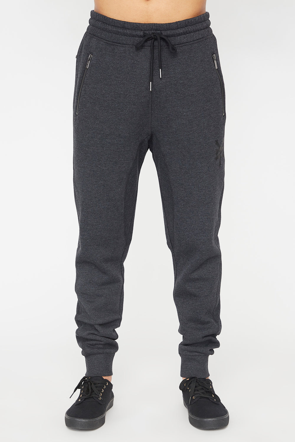 Zoo York Mens Zip Pocket Jogger Charcoal