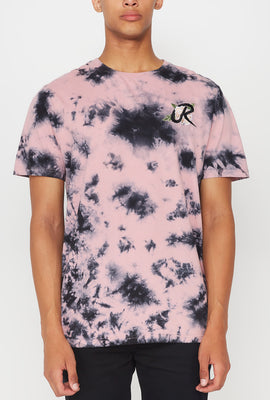 T-Shirt Tie-Dye Logo Rose Young & Reckless Homme