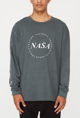 NASA Mens Graphic Long Sleeve Shirt