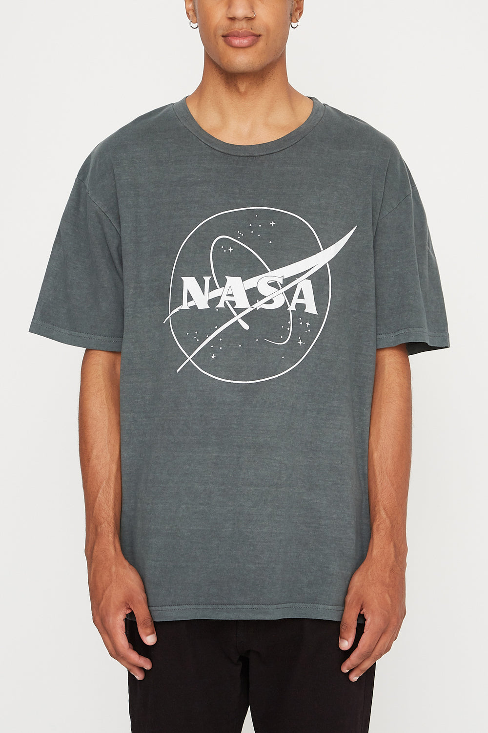 T-Shirt Imprimé Satellite NASA Homme Noir
