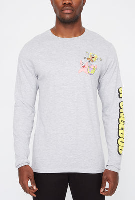 Mens Spongebob & Patrick Star Graphic Long Sleeves