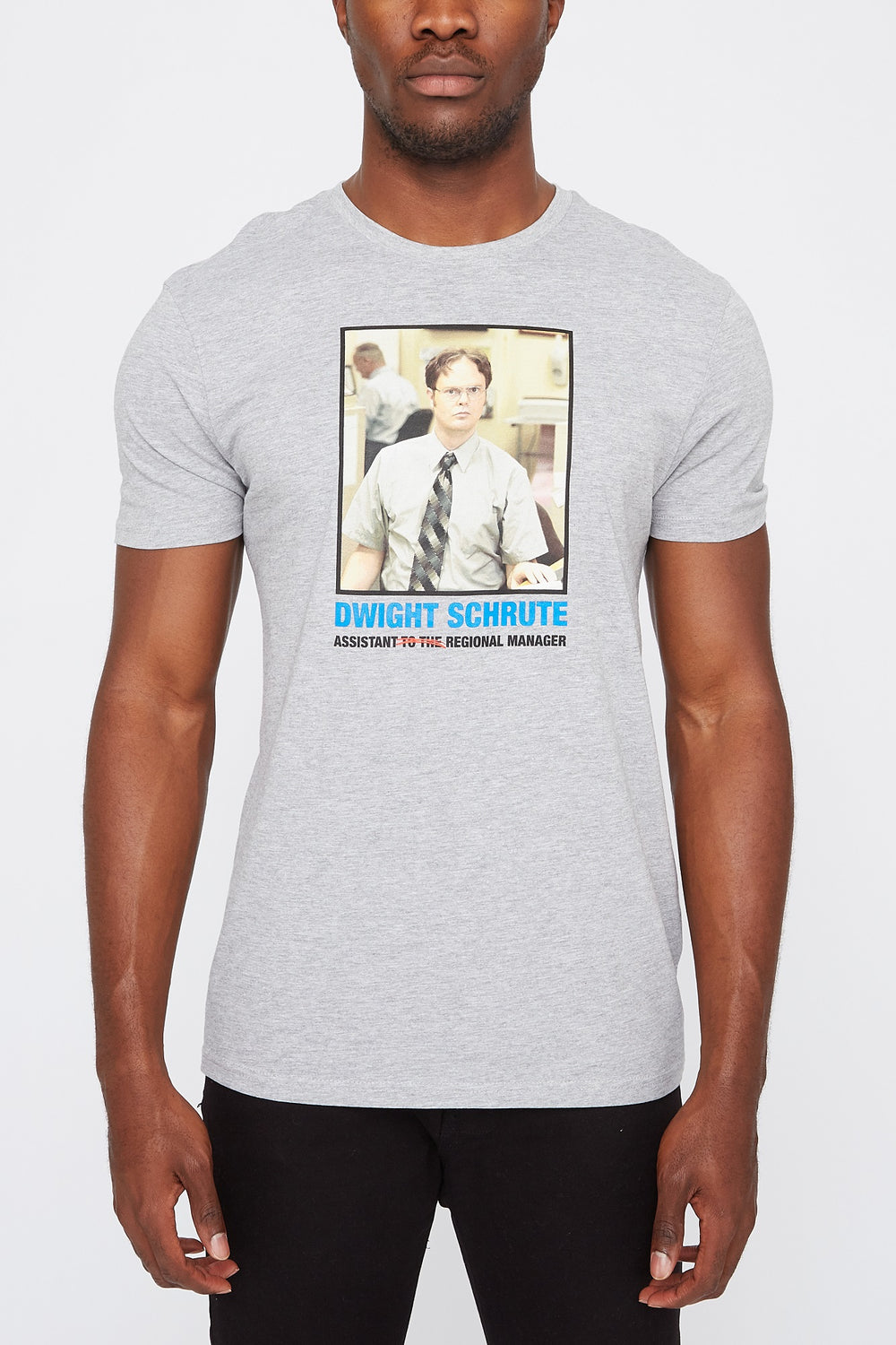 T-Shirt Homme Dwight The Office Gris