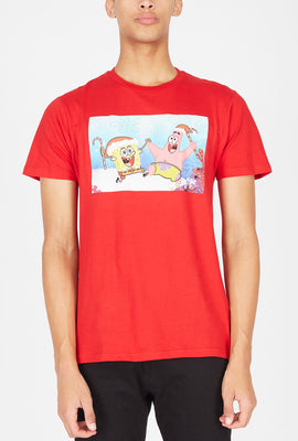 SpongeBob Squarepants & Patrick Star Candy Cane T-Shirt