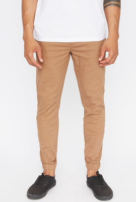 West49 Mens Solid Twill Basic Jogger