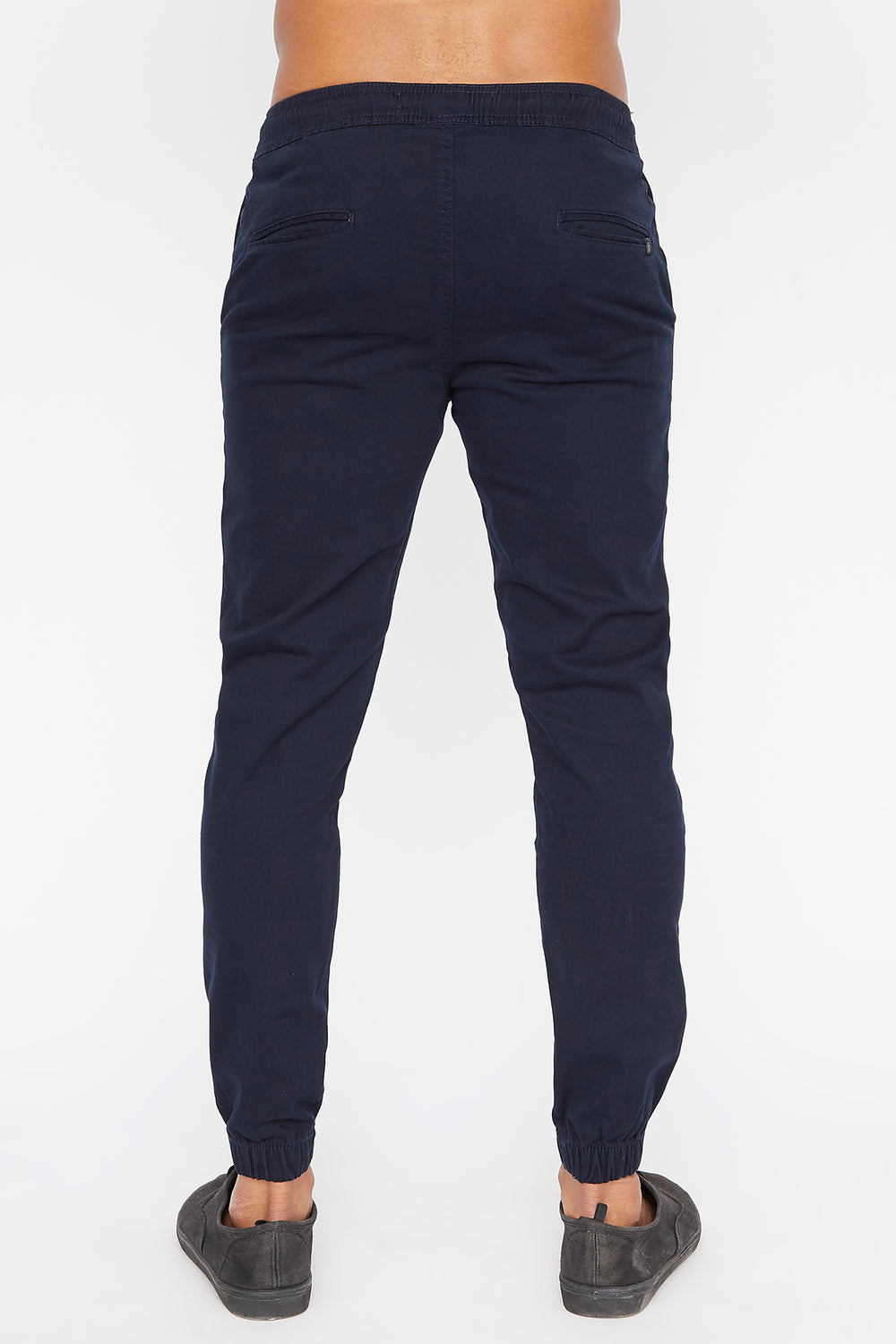 West49 Mens Solid Twill Basic Jogger Navy