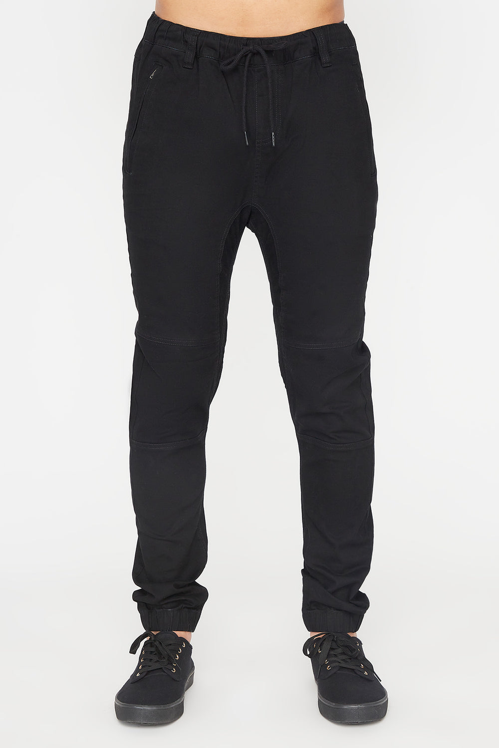 Zoo York Mens Solid Zip Jogger Black