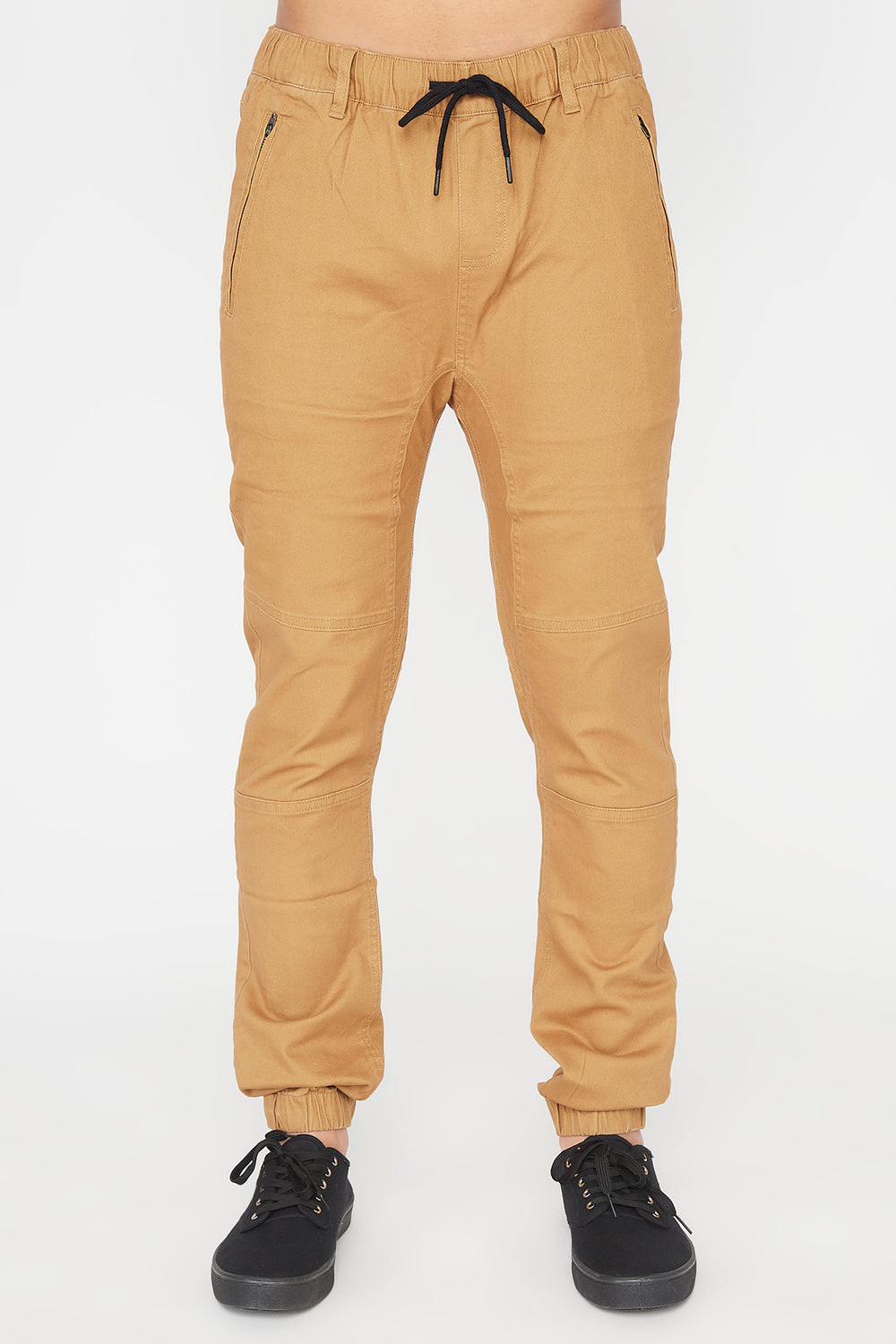 Zoo York Mens Solid Zip Jogger Copper