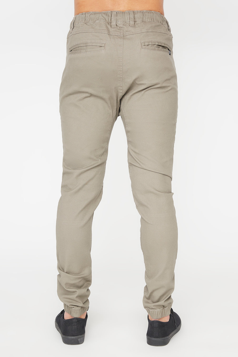 Zoo York Mens Solid Zip Jogger Mushroom
