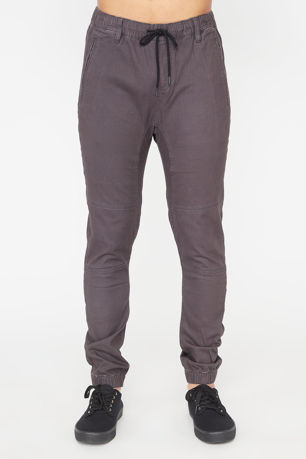 Zoo York Mens Solid Zip Jogger Dark Blue