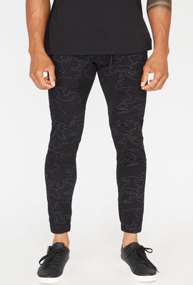 Zoo York Mens Night Camo Zip Jogger