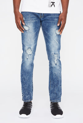 Mens Distressed Skinny Jeans
