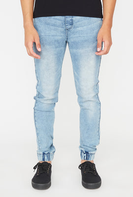 Mens Zoo York Black Acid Wash Denim Jogger