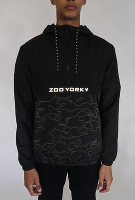 Zoo York Mens Reflective Night Camo Anorak