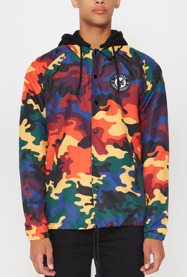 Zoo York Mens Rainbow Camo Coach Jacket