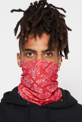 Washable & Reusable Red and Black Bandana Protective Face Masks (2 Pack)