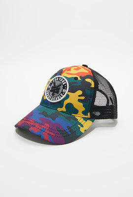 Zoo York Mens Rainbow Camo Trucker Hat