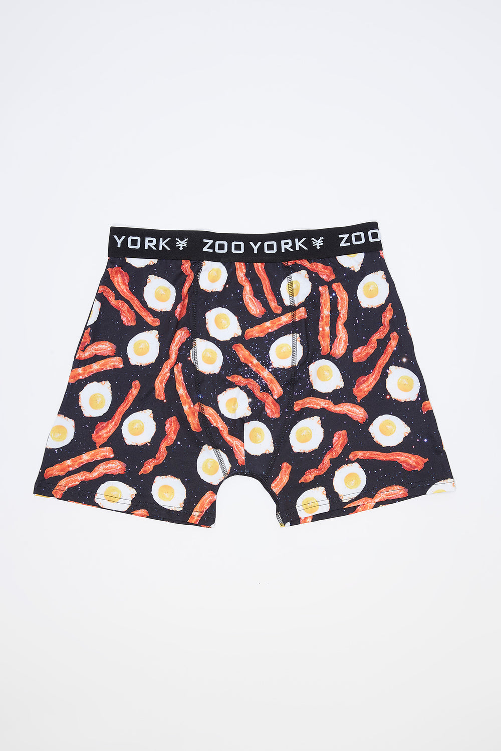 Zoo York Mens Bacon & Eggs Boxer Brief Black with White