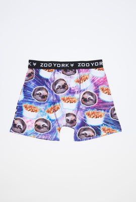 Zoo York Mens Sloth & Poutine Boxer Brief