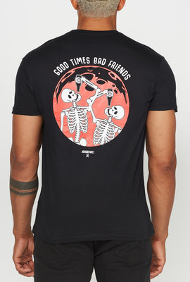 T-Shirt Good Times Bad Friends Arsenic Homme