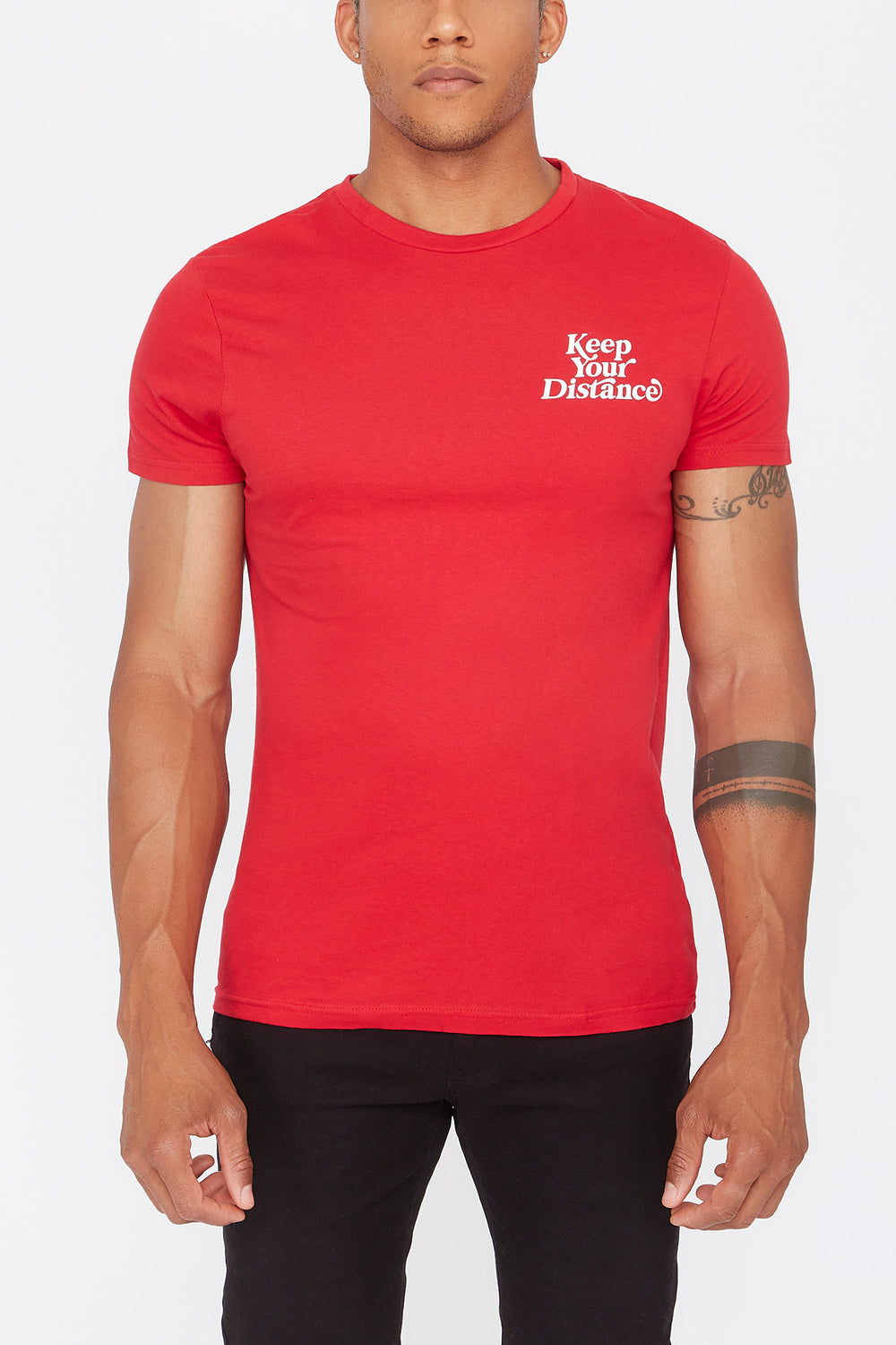 T-Shirt Keep Your Distance Young & Reckless Homme Rouge