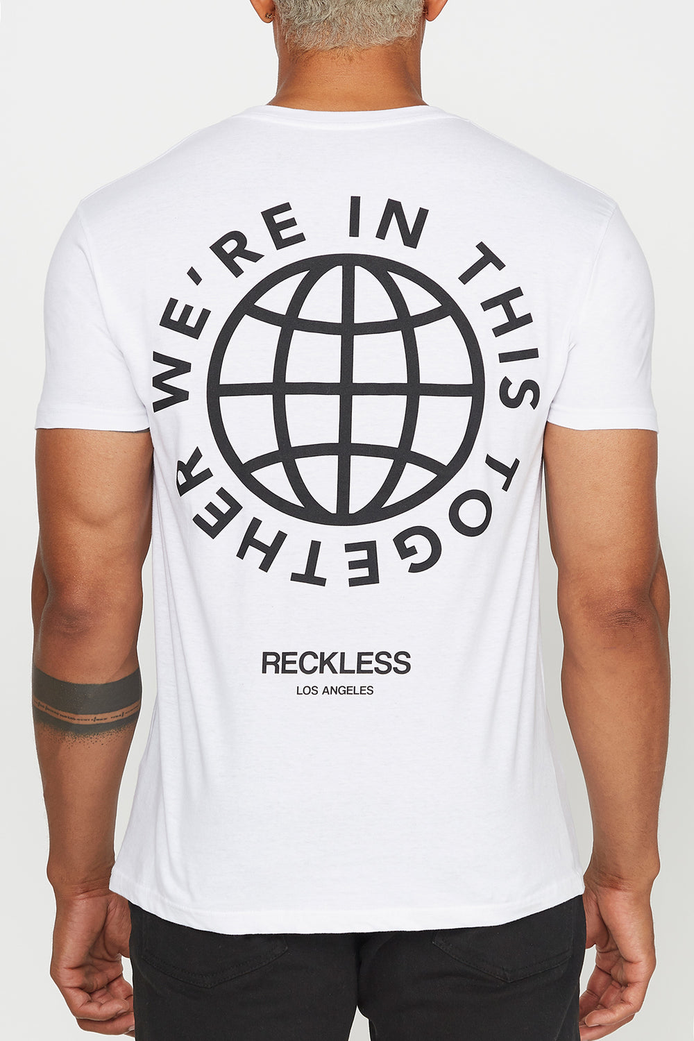 T-Shirt Keep Your Distance Young & Reckless Homme Blanc