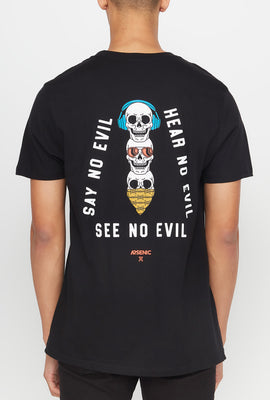 T-Shirt No Evil Arsenic Homme