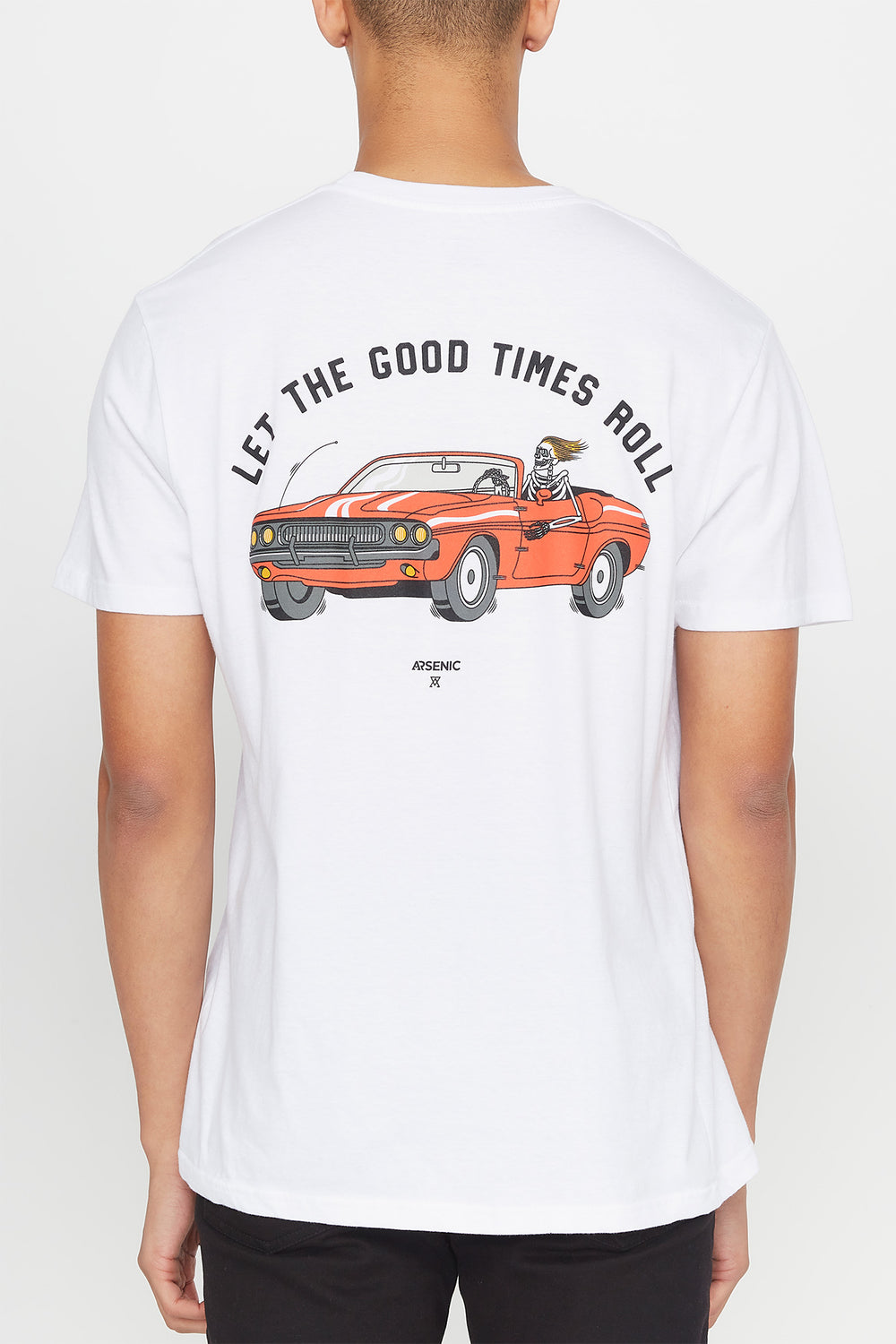 Arsenic Mens Let the Good Times Roll T-Shirt White