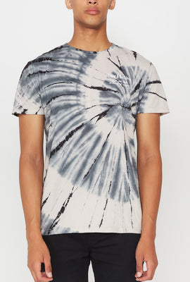 T-Shirt Tie-Dye Imprimé Tournesol Young & Reckless Homme