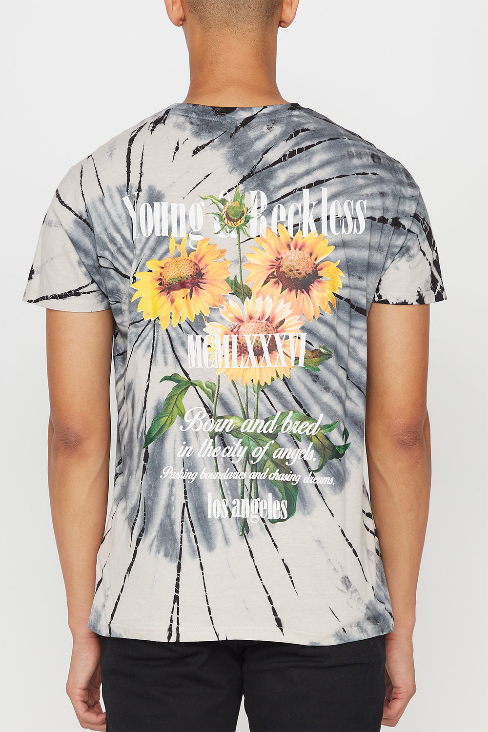 T-Shirt Tie-Dye Imprimé Tournesol Young & Reckless Homme Naturel