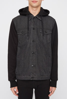 West49 Mens Contrast Jean Jacket