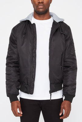Blouson Aviateur à Capuchon Young & Reckless Homme