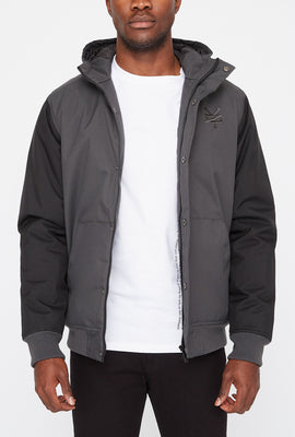West49 Mens 2-Tone Bomber Jacket