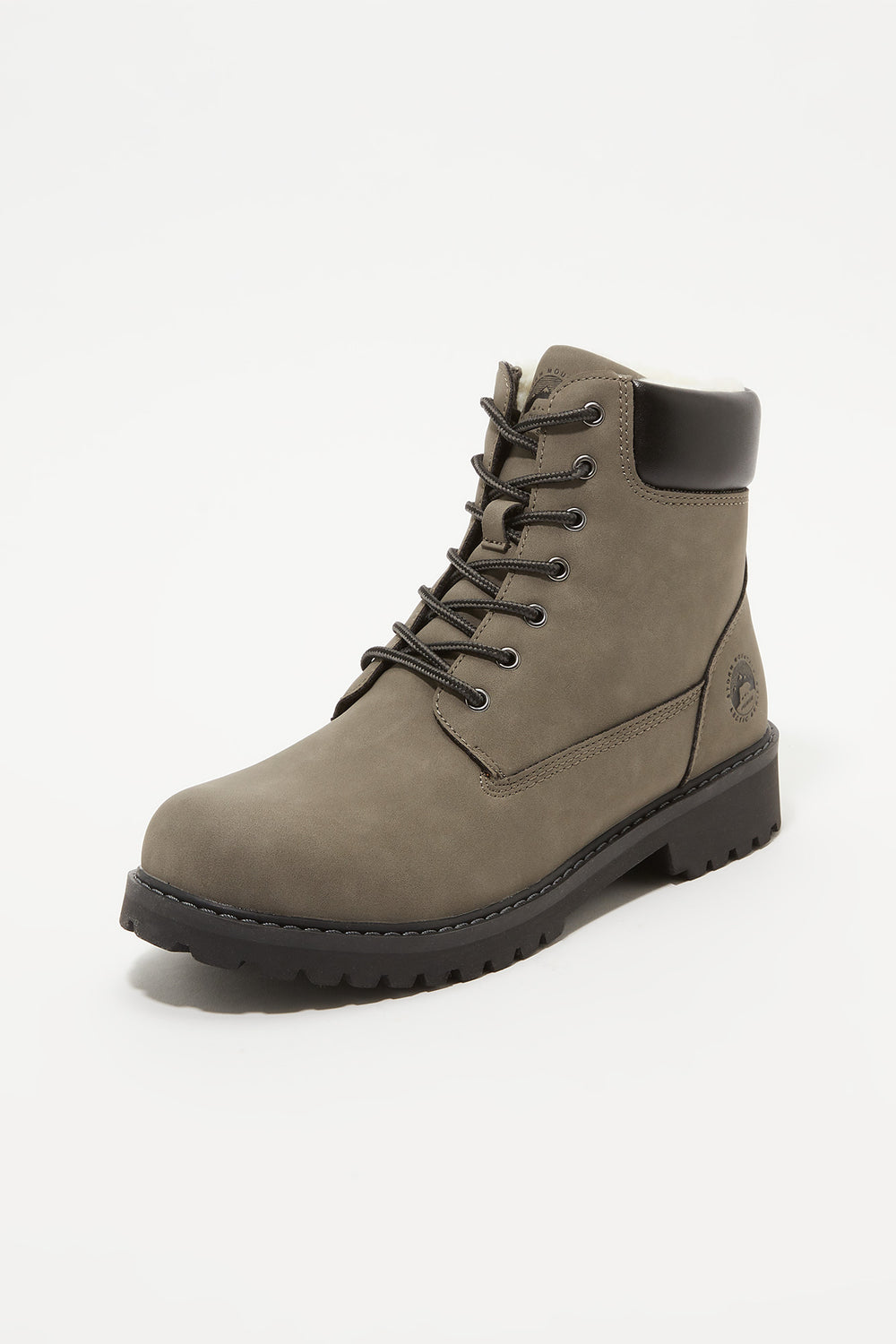 Storm Mountain Mens Faux-Fur Hiker Boots Heather Grey