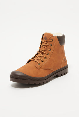 Storm Mountain Mens Faux-Fur Hiker Boots