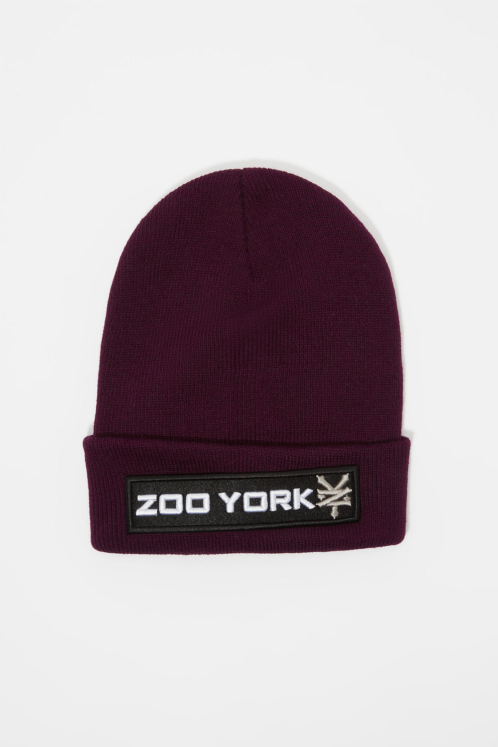 Tuque Logo Patch Zoo York Homme Aubergine