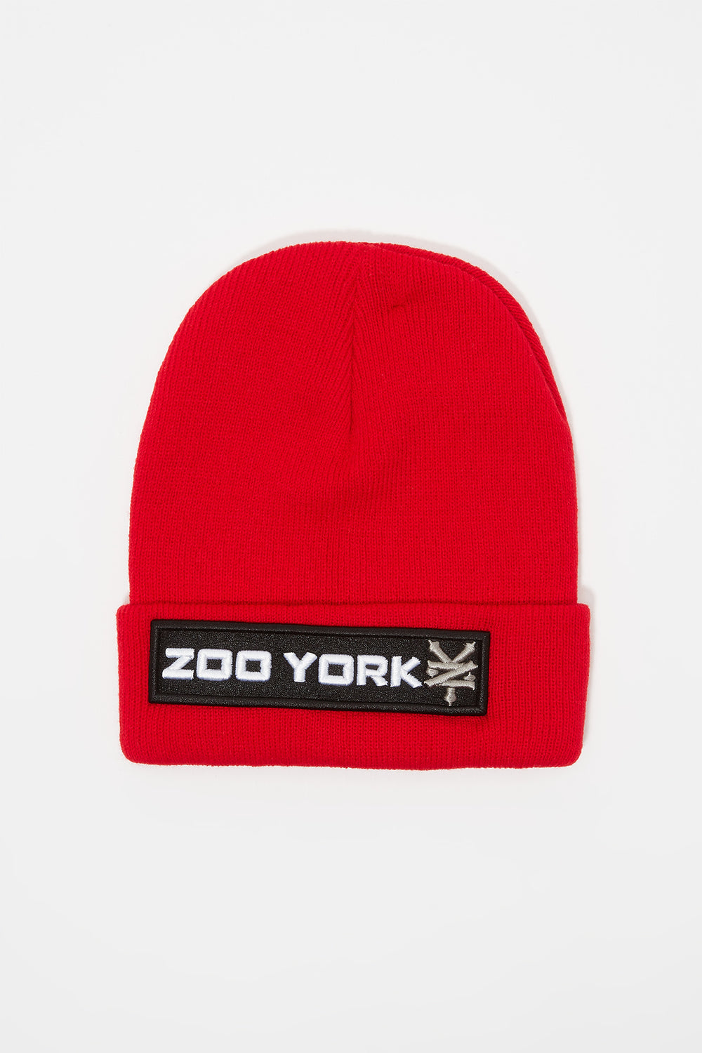 Tuque Logo Patch Zoo York Homme Rouge